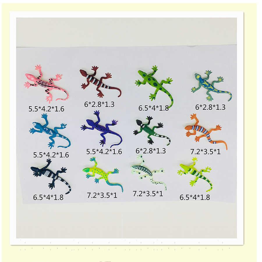 Novidade Artificial Modelo Réptil 12 Assorted Lagartos Brinquedo modelo Animal Simulação de Plástico PVC Figura de Ação para Crianças Presente