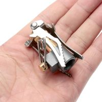 Outdoor Stove Titanium Alloy Folding Mini Camping Oven Survival Furnace Stove 45g 3000W Pocket Picnic Cooking Gas Burner Cooker