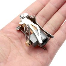 Outdoor Stove Titanium Alloy Folding Mini Camping Oven Survival Furnace 45g 3000W Pocket Picnic Cooking Gas Burner Cooker