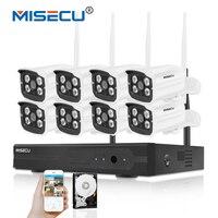 MISECU 8CH 720P HDMI 1080P Complete WIFI System 8pcs 1 0mp WIFI Array IR LED Camera