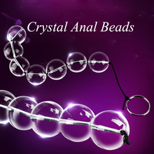 4 Sizes Anal Plug Glass Chain Beads Gay Butt Plug Smooth Crystal Balls Pull Ring Massager Sex Toys Adult Erotic Products 1 PC