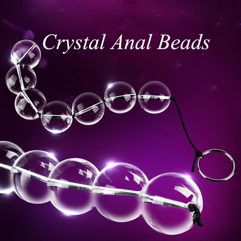 4 Sizes <font><b>Anal</b></font> <font><b>Plug</b></font> Glass <font><b>Chain</b></font> <font><b>Beads</b></font> Gay <font><b>Butt</b></font> <font><b>Plug</b></font> Smooth Crystal <font><b>Balls</b></font> Pull Ring <font><b>Massager</b></font> Sex Toys Adult Erotic Products 1 PC