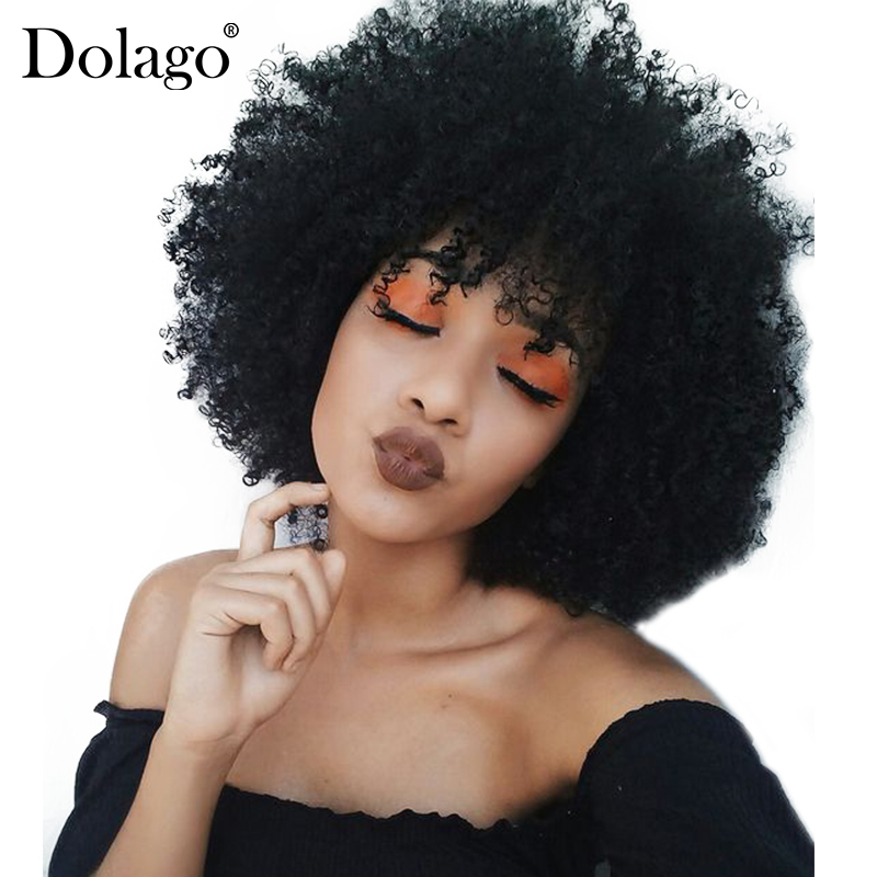 13x6 Afro Kinky Curly Lace Front Human Hair Wigs For Women Brazilian Lace Frontal Wig 250% Density Natural Black Remy Dolago High Safety