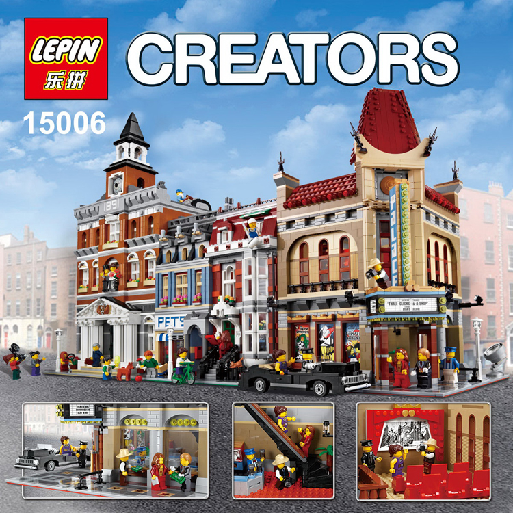 LEPIN 15006 2354pcs Palace Cinema Model Building Blocks set Bricks Toys Compatible legoed 10232 lepin 22002 1518pcs the maersk cargo container ship set educational building blocks bricks model toys compatible legoed 10241