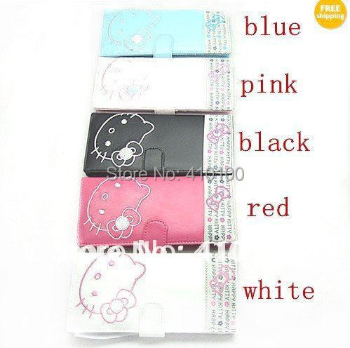 K127  Hellokitty LADY Girl Bifold Rose Long Purse Wallet kitty bag 5 colors White/Black/Rose/Pink/Blue
