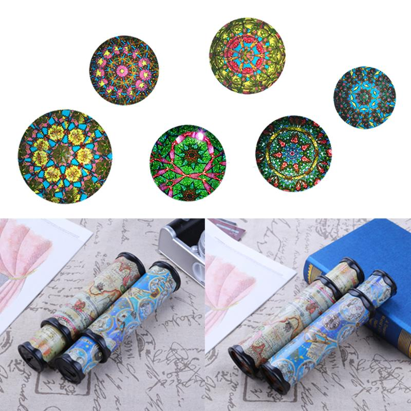 30cm Rotating Kaleidoscope Magic Colorful World Colors Shapes Changing Classic Educational Toy Kaleidoscope Kids Birthday Gift