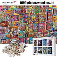 MOMEMO Color Art Work 1000 Pieces Adult 2mm Thick Wooden Puzzle Landscape Figure Puzzles Children Toys Gifts Decor
