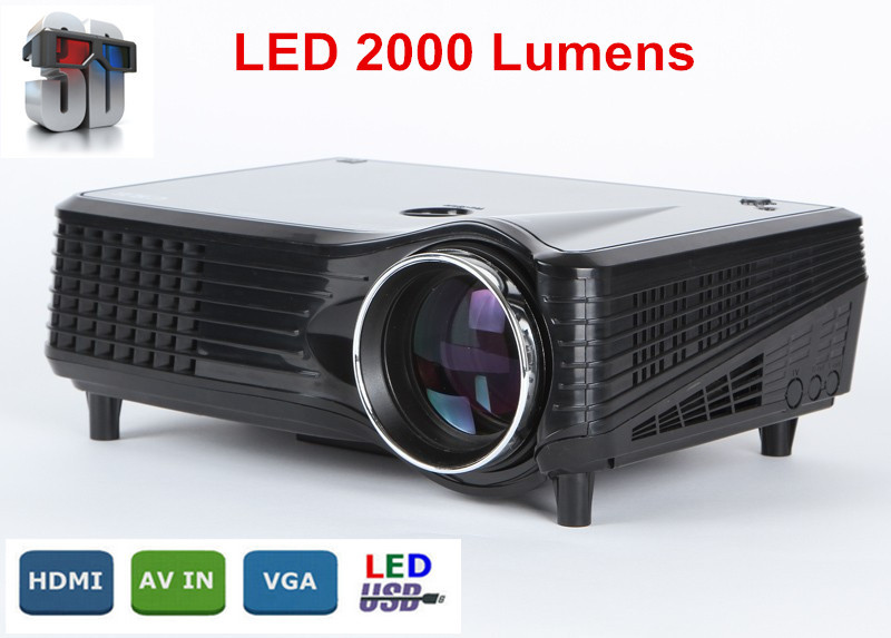 Top quality led projector 2000lumens full hd 1080p home for Best quality mini projector
