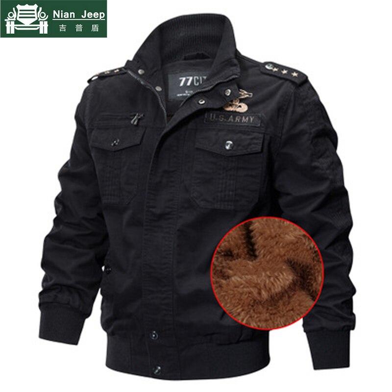 Thicken Wool Liner Military Jacket Men 2020 Winter Jaqueta Masculina Pilot Jacket Coat Army Men