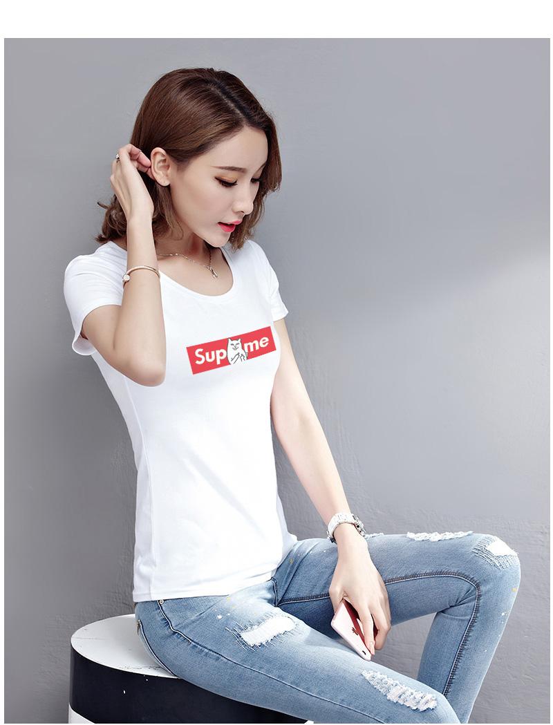 HTB1OANASVXXXXaZaXXXq6xXFXXXm - Women T shirt Cartoon Middle Finger Cats Short Sleeve PTC 215