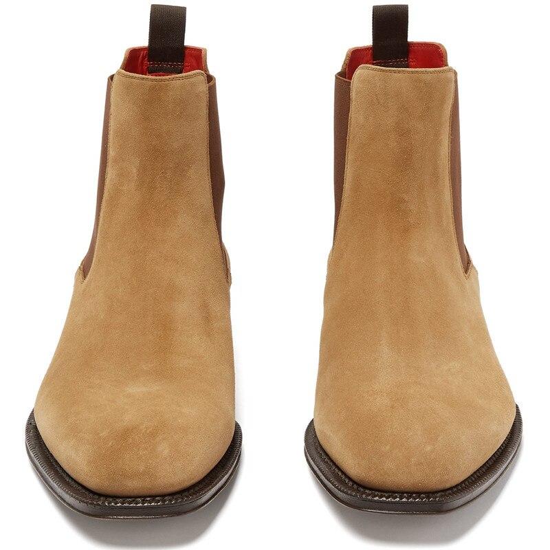 Camurça salto Chelsea 2019 Sapatos Low Vaca Top Pic Para Multi Alto Elástico Homens Boots Qianruiti Eu39 colorido Botas Alta as De Ankle eu46 d0O8f8qZw