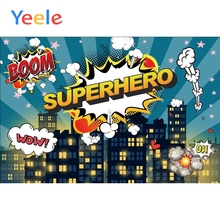 Yeele Superhero Background Posters City Building Boom Photography Baby Kid Portrait Scene Photographic Studio For Photo Backdrop