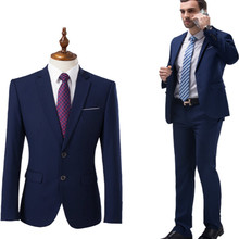 High quality 2019 men's fashion slim suit 5XL men's business casual best man 2 wedding jacket trousers suit