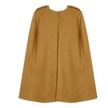 New Women Wool Cape Coat Shawl Outwear Jacket Overcoat Cloak Trench Coat H34