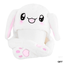 Горячая новинка волшебный кролик шляпа с движущимися ушами плюшевые игрушки подарок детские игрушки вечерние фото