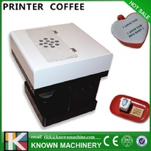 Autofoto café latt impresora plana impresora de China fabricación, de alta resolución de la impresora de café para la venta