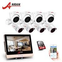 ANRAN 1080P HD 8CH POE NVR Security POE IP Camera NightVision Outdoor Waterproof IR CCTV System Surveillance System Kit