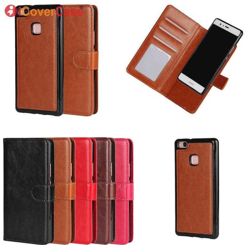 Pour Huawei P9 P8 Lite 2 en 1 Amovible Magnétique Cas portefeuille En Cuir Couverture Carcasas Coque Pour Huawei P8 P9 Lite Etui Capinhas