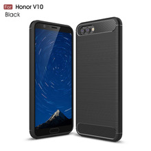 Huawei honor V10 Case Silicon for V9 V8 play Cover Soft Carbon Fiber Brushed Hoesje Fundas Movil Coque Etui