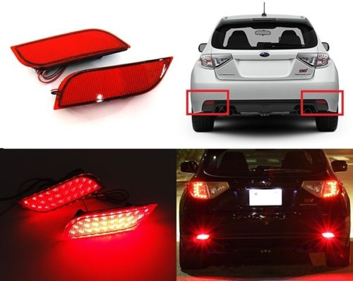 CYAN SOIL BAY Rear Bumper Reflector LED Tail Stop Brake Light 2008+ For Subaru Impreza WRX STI XV Crosstrek Legacy Exiga Levorg antique kitchen cabinet drawer handle vintage furniture wardrobe closet knobs cupboard door cabinet knob shoes box pulls dresser