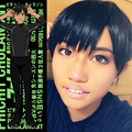 New Japan Anime Yuri!!! on Ice Cospaly Wigs Phichit Chulanont Short Black Synthetic Hair Cosplay Wig Peruca