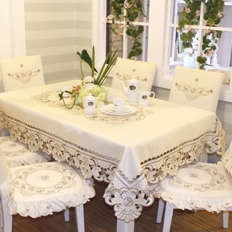cd3dbe596 European embroidered flowers tablecloths coverings cloth table cloth chair table  cover cushion flag suit crochet tablecloth-in Tablecloths from Home ...