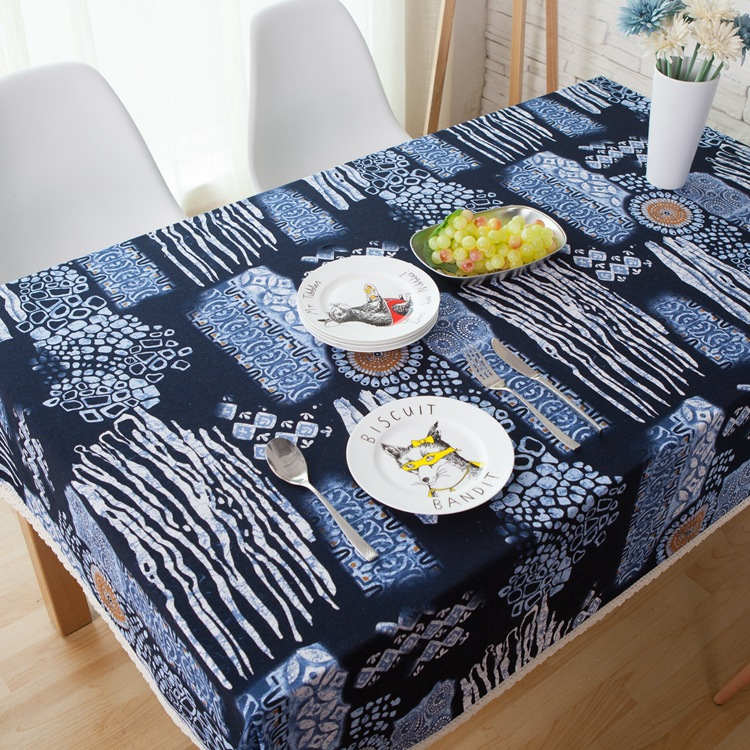 Cotton Fabric Table Cloth Folk Style Square Rectangular Cloth Table Covers Coffee Table Cloth Mat Tea Restaurant