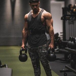 Image 5 - Calças de corrida masculinas de verão, calças esportivas de algodão, macias, musculação, fitness, academia, 5 cores