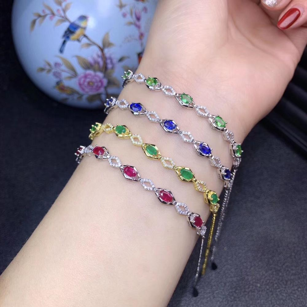 shinning  gemstone  bracelet  with silver Four colour for  chooseshinning  gemstone  bracelet  with silver Four colour for  choose