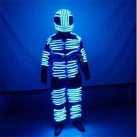 Led костюм Glow показать униформы этап одежда бара