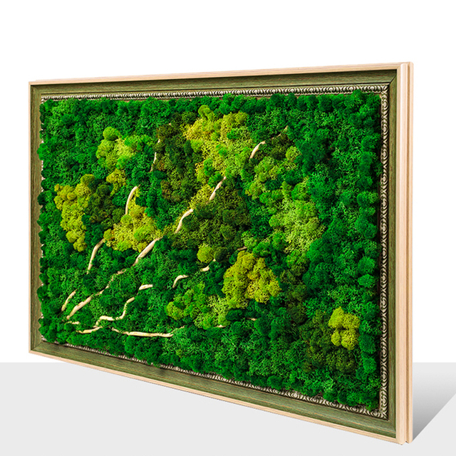 Framed 3d Real Immortal Moss Decorative Painting Nordic Modern Wall Art Wall Decoration Home Decor For Bedroom Dropshipping
