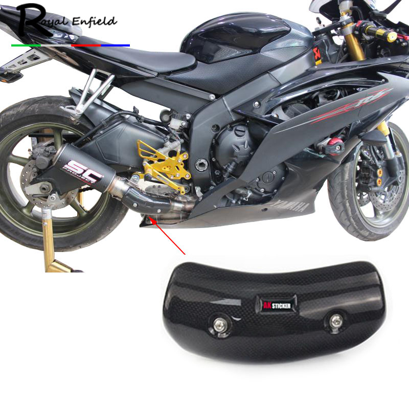 Motorcycle Exhaust Carbon Fiber Heat Shield Cover GY6 Scooter Exhaust Heat Shield Cover Free Shipping