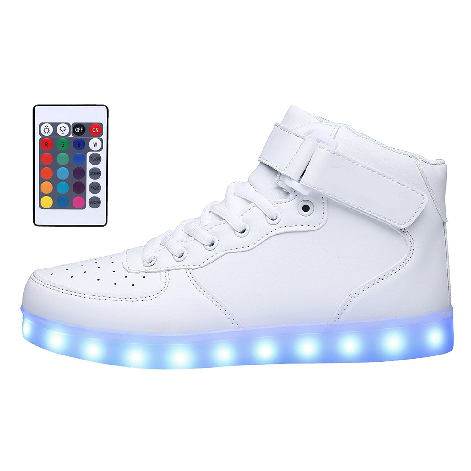 KRIATIV Adult Kids USB Charging High Top LED Shoes Light Up Flashing Sneakers Glowing Luminous Slippers for Boy Girl Light Shoe in Sneakers from Mother Kids