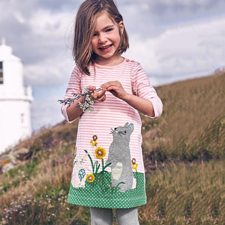Ehrlichkeit Neue 2018 Ostern Baby Baumwolle Rosa Bunny Kleid Mädchen Mode Streifen Tier Kleid Kinder Weihnachten Kleid äRger LöSchen Und Durst LöSchen