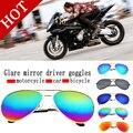 Envío gratis camión motocicleta gafas de textura yurta espejo retrovisor polarizado hombre conductor de la buena calidad gafas de sol