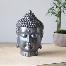 Hot Selling Chinastyle Buddha Ceramic Tabletop Crafts Home Decor Chinese Holy Porcelain Religious Resin Craft for