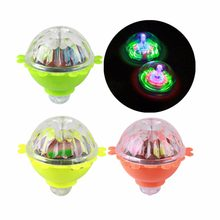 Flash LED Light Toy Laser Color Music Gyro Peg-Top Spinner Spinning Kids Toy(China)