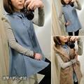 Новая Мода для беременных одежда/одежда для беременных, топ puff рукавом джинсовой длинными рукавами беременна рубашка, бесплатная доставка, xxl