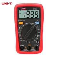 UNI T UT33B Digital Multimeter 200mV 600V 10A AC DC Voltmeter Ammeter Resistance Tester With Battery
