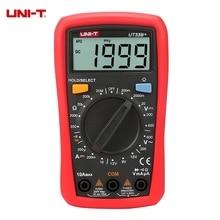 UNI-T UT33B+ Digital Multimeter 200mV~600V 10A  AC DC Voltmeter Ammeter Resistance Tester With Battery Test Function