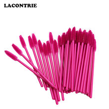 Makeup Brush Wands 50 PCS Disposable Eyelash Mascara Makeup Brush Tools Lash Extension Supplies Eyebrow Applicator Brush(China)