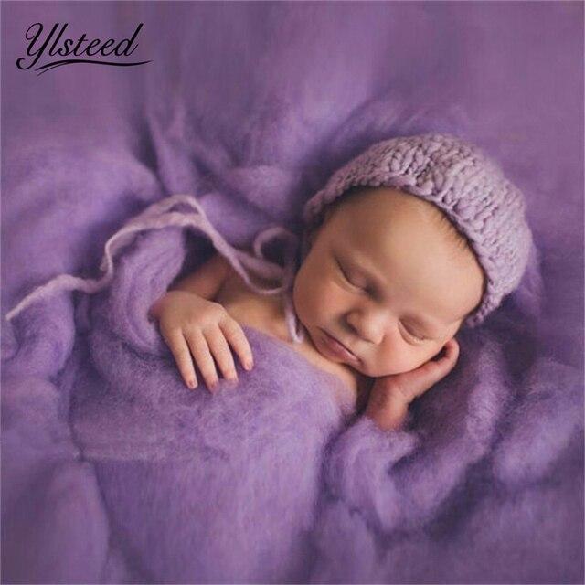 20 צבעים 60*60cm פלאפי צמר צמר יילוד שמיכת סל מילוי Stuffer יילוד צילום Props סופר רך תינוקות שמיכות