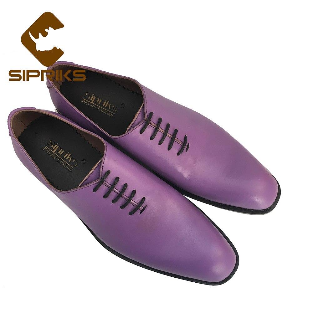 Rond Hommes Luxe Goodyear Personnalisé Sipriks Bout Cousu Mariage Robe Mariés Italien Chaussures Importés Pour De Pourpre Purple 7wHwqErd