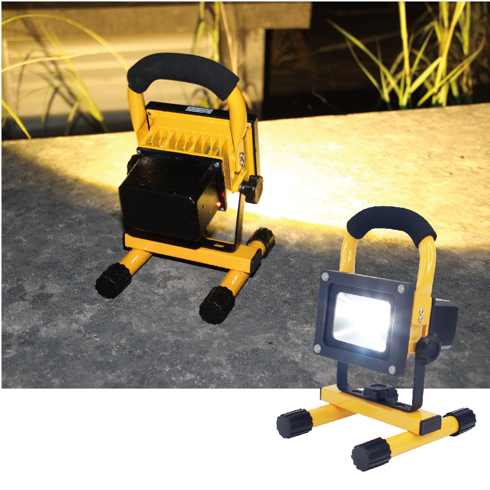 10W Portable LED Flood light Spotlight Waterproof Rechargeable camping light Outdoor Work Emergency light Car Repairing lighting 13w running time12hours ip65 white constand and red flash portable light emergency light led flood light camping light