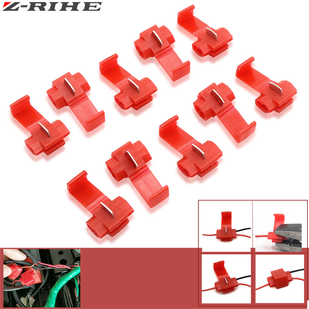 10 pcs Wire terminals quick wiring connector cable clamp for AWG 22-18 for Kawasaki Yamaha KTM duke Ducati suzuki for bmw honda