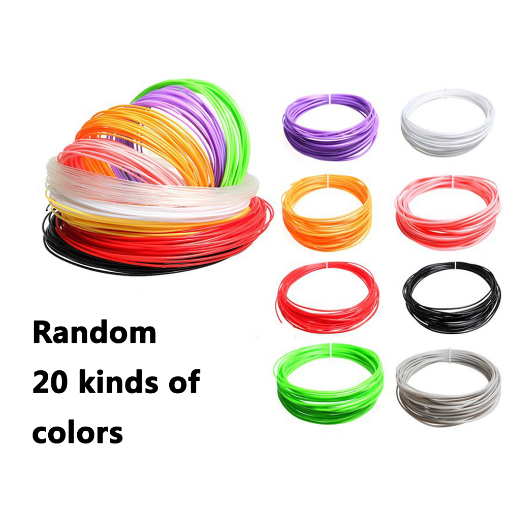 100m 3D Printing Pen Consumables Stift Pla Filament DIY Design 3D Drawing Pen Pencil Line 20 Color 1 Set 3D Printed Pen Wire
