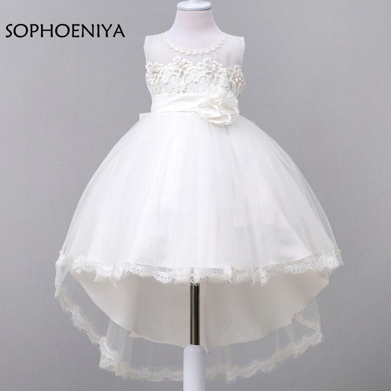 New arrival white   Flower     Girl     Dresses   2019 vestido de festa longo   flower     girl     dress   first Communion   dresses   for   girls