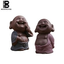 Yixing Authentic Purple Clay Hip-hop Auspicious Buddha Decoration Office Tea Ceremony Tea Pet Flower Pot Ornament Birthday Gifts(China)
