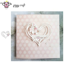 Piggy Craft metal cutting dies cut die mold Heart shape decoration Scrapbook paper craft knife mould blade punch stencils dies