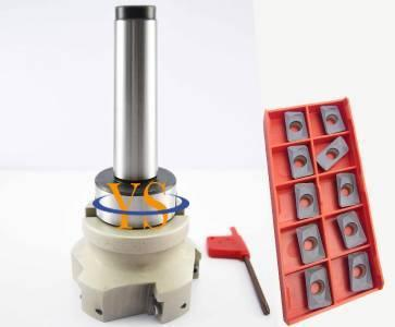 New MT4 M16 FMB27 + BAP400R 80-27-6T face end mill +10pcs APMT1604 carbide insert CNC Mill trs 6r 80 27 6t tool steel trs rounding face mill